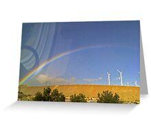 Wind Farm Over The Rainbow - Palm Springs, California Greeting Card