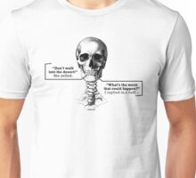 Disappointed skull Unisex T-Shirt