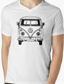 Volkswagen VW Bus Van Mens V-Neck T-Shirt