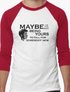 Maybe I'm Too Busy Men's Baseball ¾ T-Shirt