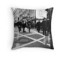 busted (Leicester Square) Throw Pillow