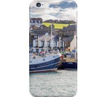 Fishing boats in Macduff harbour iPhone Case/Skin