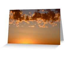 Above the Sun Greeting Card