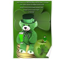 WISHING U ALL A BEARY HAPPY ST. PADDY'S DAY CHEERS❀◕‿◕❀ Poster