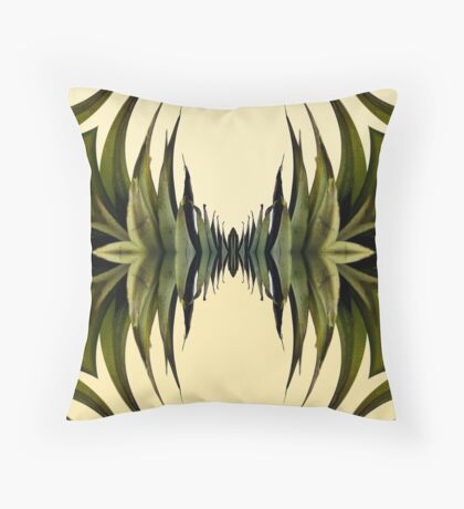 Graduated Leaves Abstract Throw Pillow