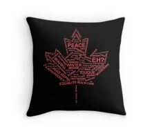 Canada Typography Throw Pillow