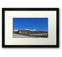 SoCal Winter Panorama Framed Print