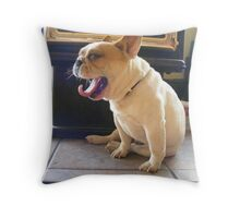 Frenchie Tongue Throw Pillow