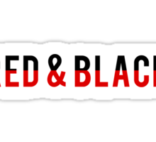 Red & Black Sticker