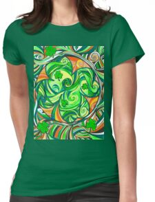 Electric Shamrock Womens Fitted T-Shirt