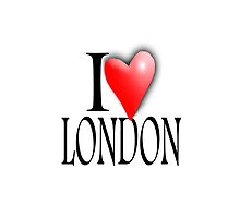 I LOVE LONDON, England, UK, British, Blighty, English by TOM HILL - Designer