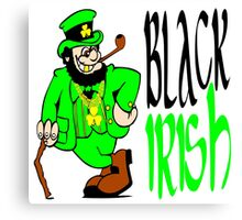Black Irish St Patrick's Day Canvas Print