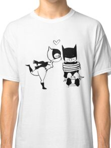 Catwoman Kissing Batman Classic T-Shirt