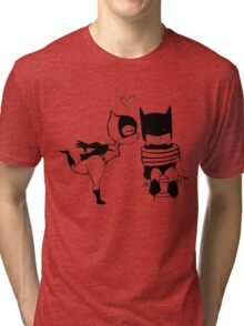 Catwoman Kissing Batman Tri-blend T-Shirt