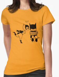 Catwoman Kissing Batman Womens T-Shirt