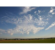 farmland with clouds Photographic Print