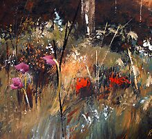 Blue Grass And Wild Flowers by Ruth Palmer