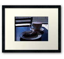 Morning Latte' Framed Print