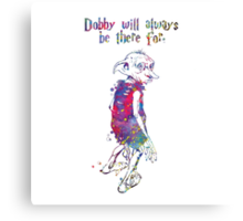 Dobby Quote from Harry Potter Watercolor Canvas Print