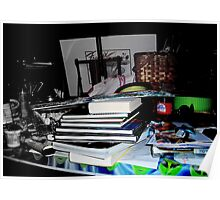 *Desk*, _photo_/*Today in the Studio*, _text_ Poster