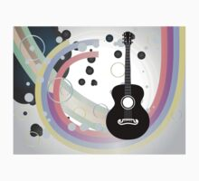 Background with acoustic guitar Baby Tee
