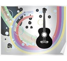 Background with acoustic guitar Poster