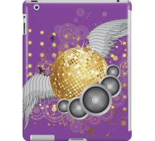 Gold disco ball with wings iPad Case/Skin
