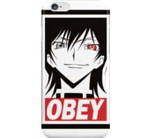 Code Geass Obey  iPhone Case/Skin