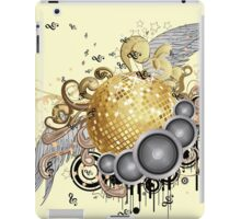 Gold disco ball with wings 2 iPad Case/Skin