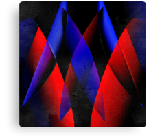 Midnight geometry two Canvas Print