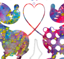 Mickey Minnie Mouse Love Watercolor Sticker