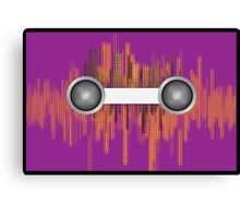 Music background with halftone Canvas Print