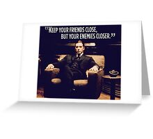 The Godfather Al Pacino Greeting Card