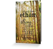 Ethan strong Greeting Card