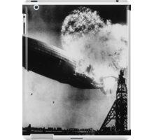 Hindenburg Disaster 1937 at Lakehurst Naval Air Station in New Jersey. iPad Case/Skin