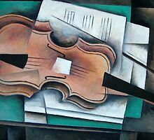 Cubist Strativarius by Bill Proctor