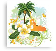 Tropical music party 2 Canvas Print
