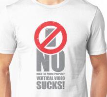 No Vertical Video No.2 Unisex T-Shirt