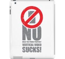 No Vertical Video No.2 iPad Case/Skin