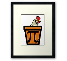 Chicken Pot Pi Framed Print