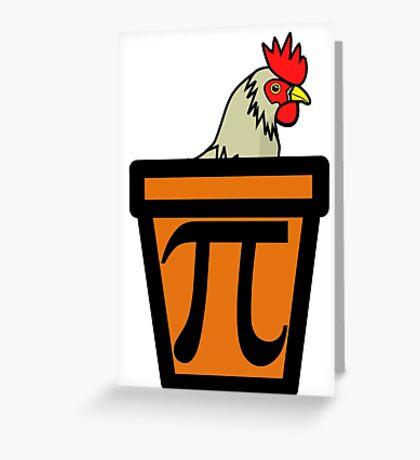 Chicken Pot Pi Greeting Card