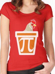 Chicken Pot Pi Women's Fitted Scoop T-Shirt