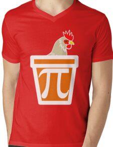 Chicken Pot Pi Mens V-Neck T-Shirt