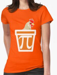 Chicken Pot Pi Womens Fitted T-Shirt