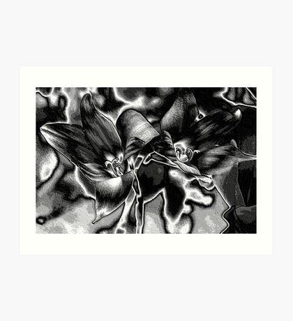 Rain Lilies - BW Art Print