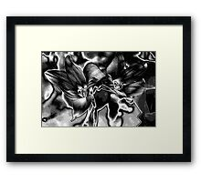 Rain Lilies - BW Framed Print
