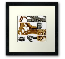 gears coposition Framed Print