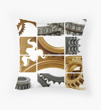 gears coposition Throw Pillow