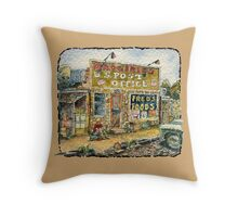 Old Small Store and Buick Throw Pillow