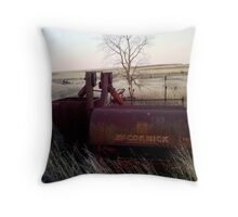 Old harvester  Throw Pillow